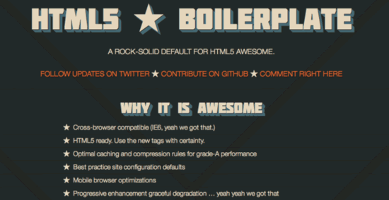 HTML5 Boilerplate ca. 2010